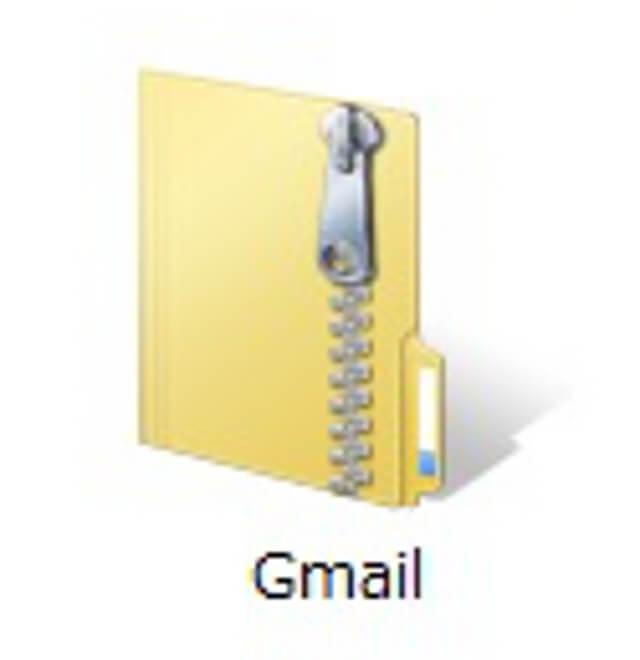 圧縮ファイルのフォルダ