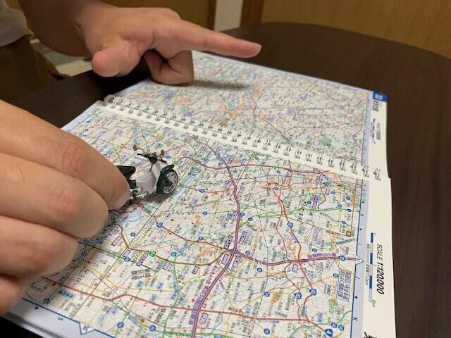 カブで地図