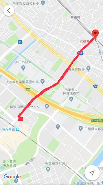 京成から映画館まで