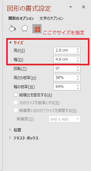 配置とサイズ